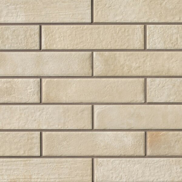 9.75 x 2.38 Porcelain Field Tile in Beige by Grayson Martin