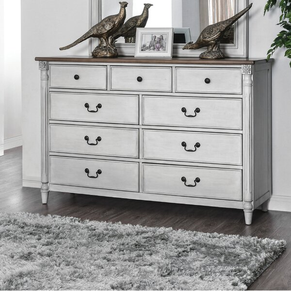 Elzada 9 Drawer Double Dresser by Rosecliff Heights