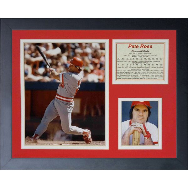 Pete Rose Framed Memorabilia by Legends Never Die