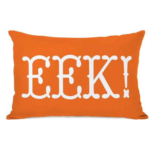 EEK Text Lumbar Pillow by One Bella Casa