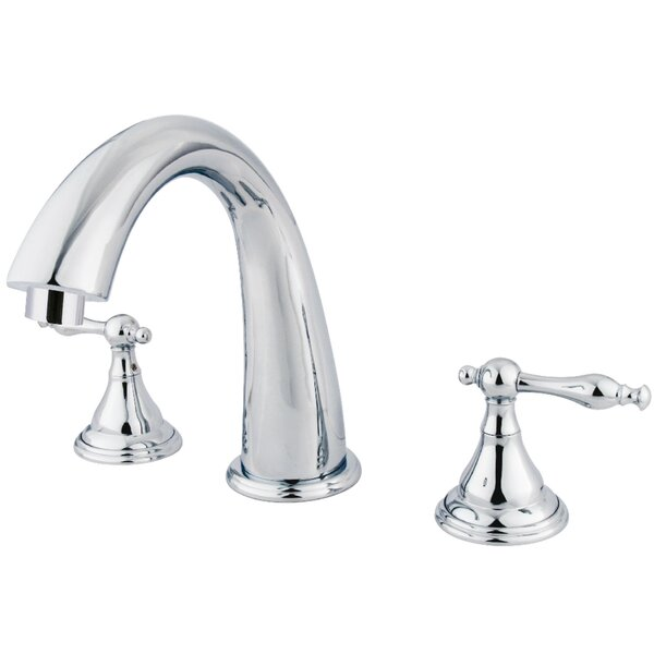 Royale Double Handle Deck Mounted Roman Tub Faucet by Kingston Brass Kingston Brass