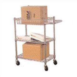 High Fully 3 Shelf Wire Utility Cart by Luxor