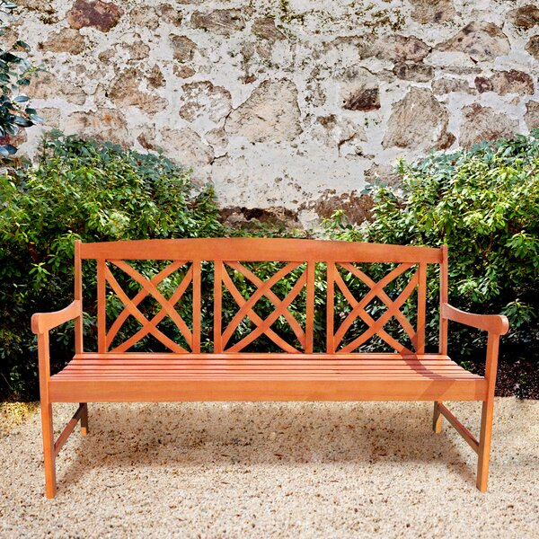 Avoca Wood Garden Bench by Three Posts