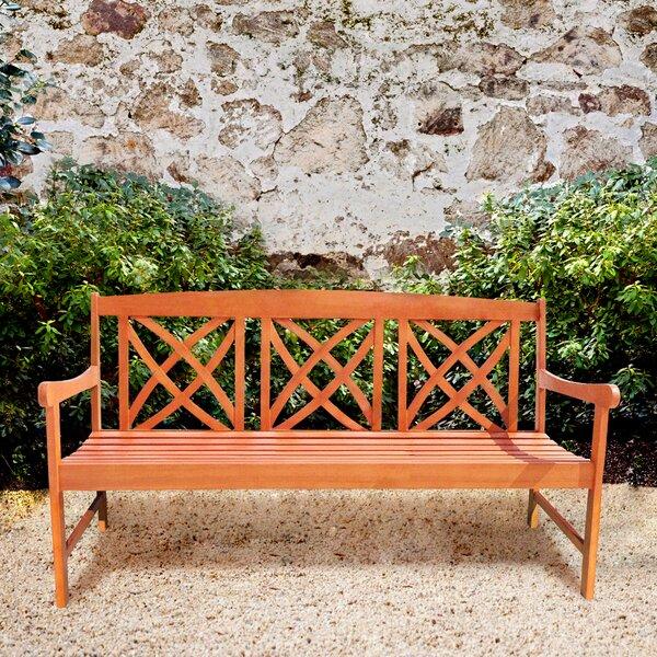 Avoca Wood Garden Bench by Three Posts