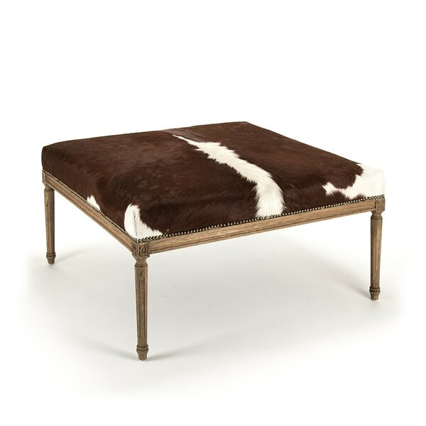 Cyrus Cowhide Cocktail Ottoman by Foundry Select