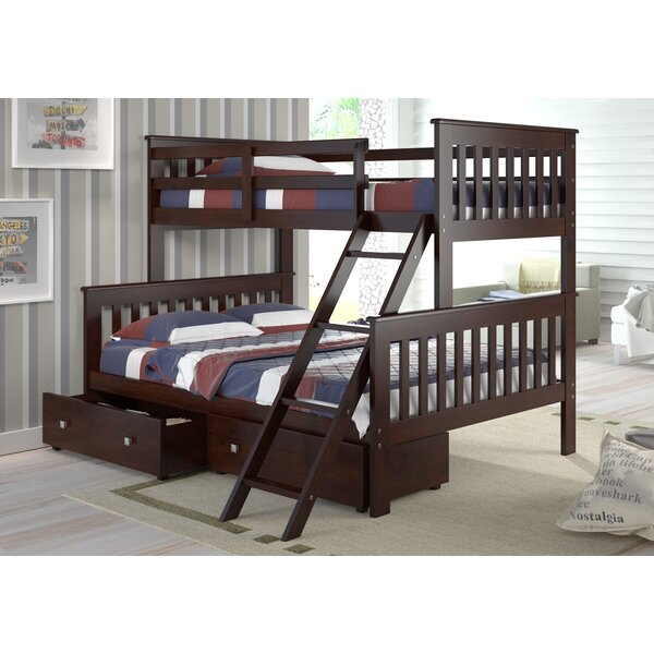 Sermons Twin Over Full Bunk Bed with Drawers by Harriet Bee