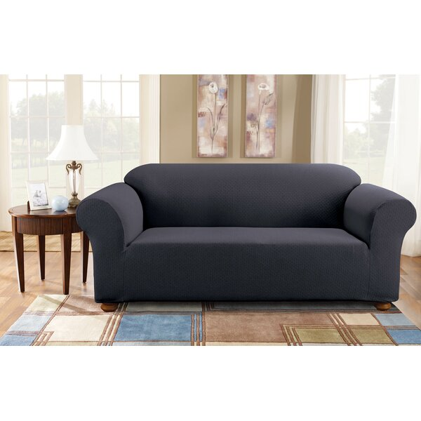 Simple Stretch Subway Box Cushion Sofa Slipcover By Sure Fit