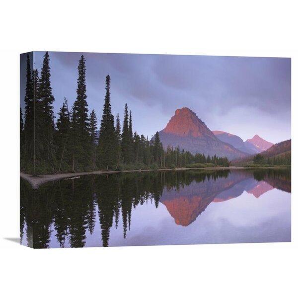Nature Photographs Mount Sinopah Reflected in Two Medicine Lake, Glacier National Park, Montana Photographic Print on Wrapped Canvas by Global Gallery