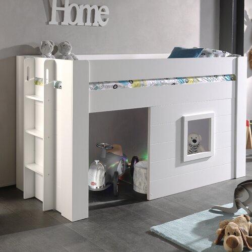 Halbhochbett Eldridge mit Leiter| 90 x 200 cm Isabelle & Max | Kinderzimmer > Kinderbetten > Hochbetten | Isabelle & Max