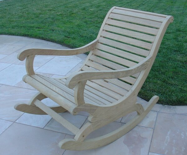 Guthrie Roble Teak Rocking Chair by Highland Dunes