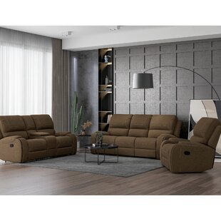 Dulal 3 Piece Reclining Configurable Living Room Set by Latitude Run®