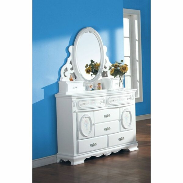 Meghan 6 Drawer Dresser With Mirror By One Allium Way