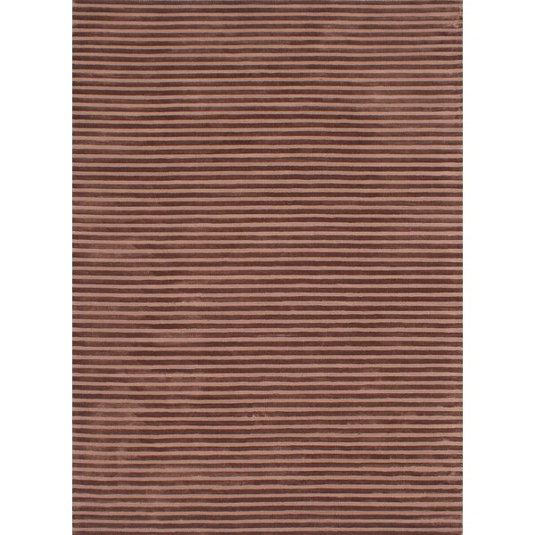 Brenneman Hand-Tufted Brown Area Rug by Latitude Run