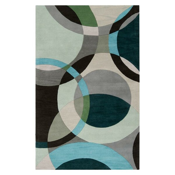 Dewald Gray/Light Celadon Area Rug by Ebern Designs