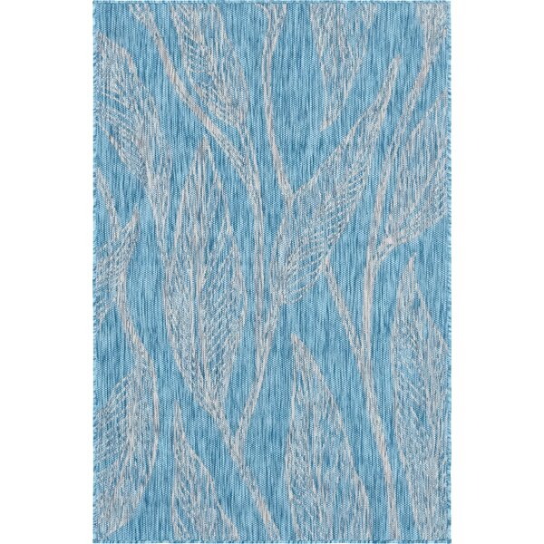Kyte Blue/Gray Indoor/Outdoor Area Rug by Bungalow Rose