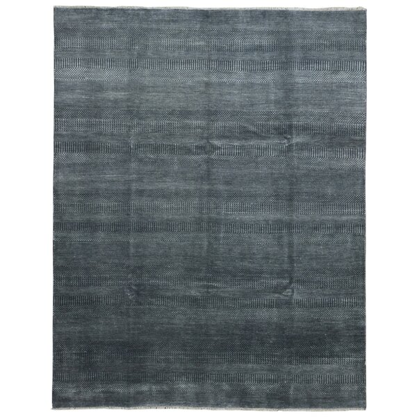 One-of-a-Kind Guifford Grass Hand Woven Silk Black Area Rug by Isabelline