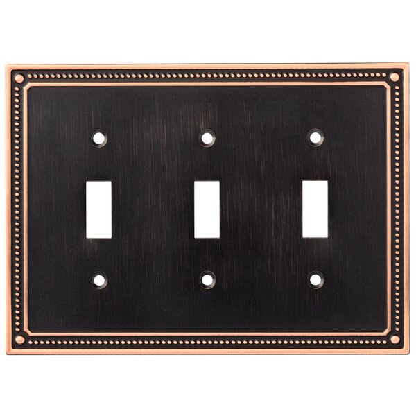 Classic Beaded Double Switch Wall Plate by Franklin Brass