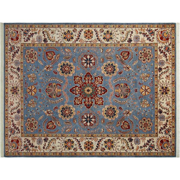 Baldwin Park Hand-Knotted Wool Light Blue/Ivory Area Rug by Bloomsbury Market