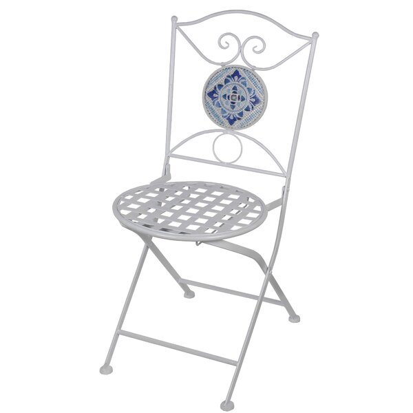 Kasbar Metal Folding Patio Dining Chair by World Menagerie