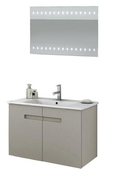 New York 34 Wall Mounted Single Bathroom Vanity Set with Mirror