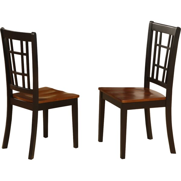 Stefanski Solid Wood Dining Chair (Set of 2) by Charlton Home
