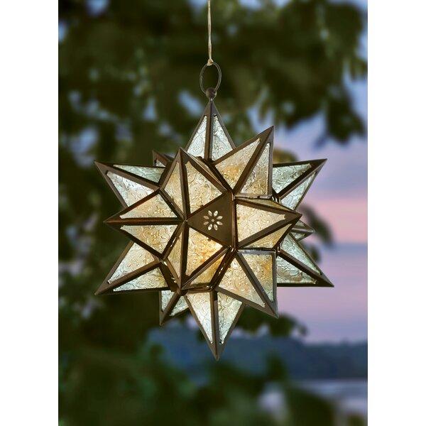 Exotic Star Iron/Glass Lantern by Mistana