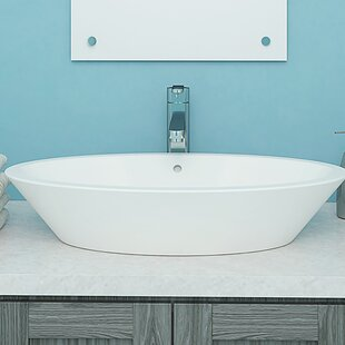 Compare & Buy Shaina Classically Redefined Ceramic Oval Vessel Bathroom Sink with Overflow By DECOLAV