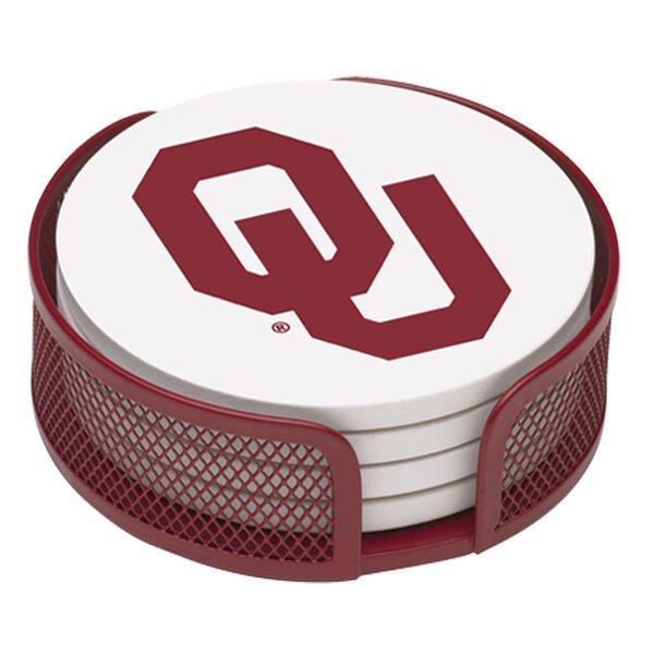 5 Piece University of Oklahoma Collegiate Coaster Gift Set by Thirstystone