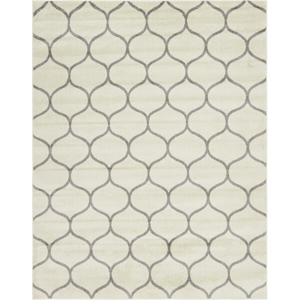 Easter Compton Trellis Ivory Area Rug by Breakwater Bay