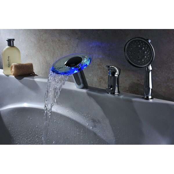 Single Handle Deck Mount Tub Faucet Set with Handheld Sprayer by Sumerain International Group