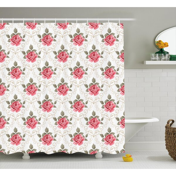 Charise Romantic Shabby Elegance Flowers Nature Shower Curtain by August Grove