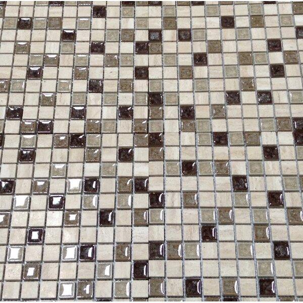 Kismet 1 x 1 Glass Mosaic Tile in Happenstance by Bedrosians