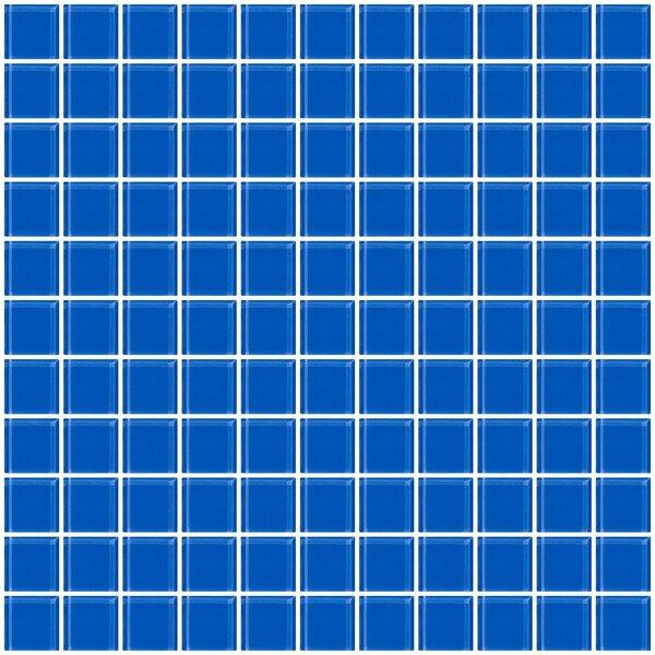 1 x 1 Glass Mosaic Tile in Periwinkle Blue by Susan Jablon