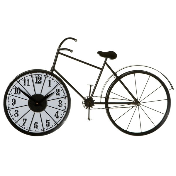 Mireille Bicycle Wheel Wall Clock by 17 Stories