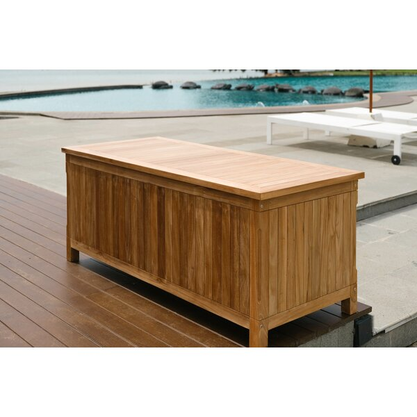 Pavilion Outdoor Teak Storage Bench by Rosecliff Heights