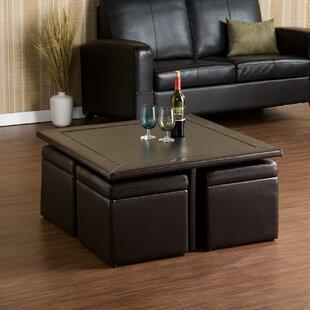 Schooner Coffee Table with Lift Top Stools Red Barrel Studio