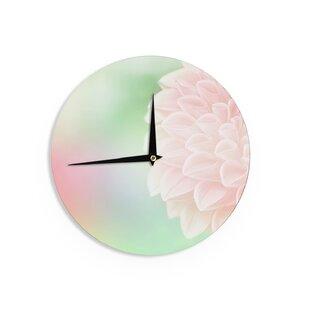 Robin Dickinson 'Sweet Pink' 12 Wall Clock by East Urban Home