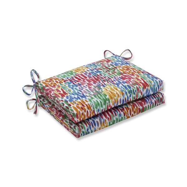 Make It Rain Zinnia Indoor/Outdoor Dining Chair Cushion (Set of 2) by Wrought Studio