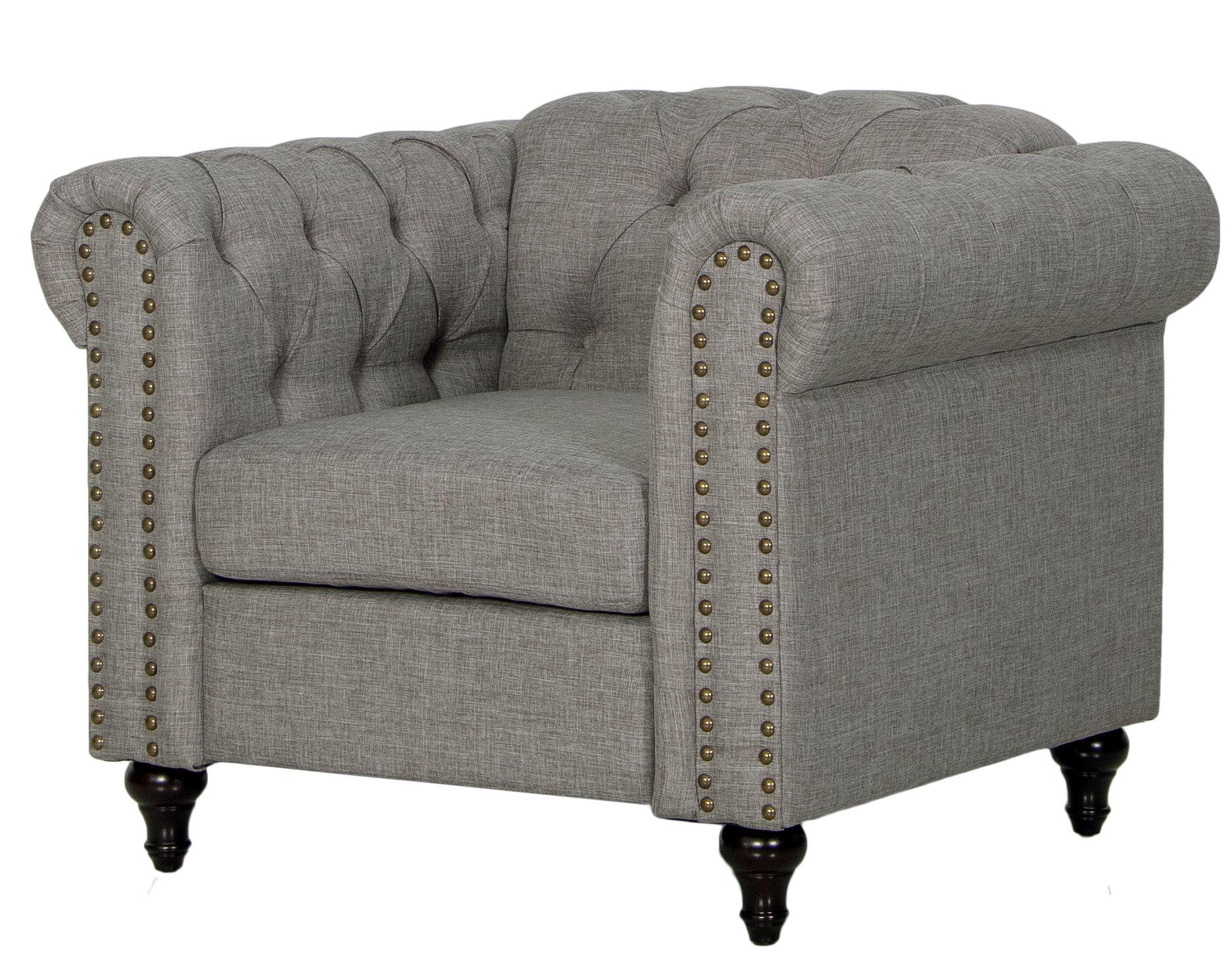 Migdalia Living Room Chair-Grey