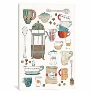 'Coffee Chart II' Graphic Art Print on Canvas by East Urban Home