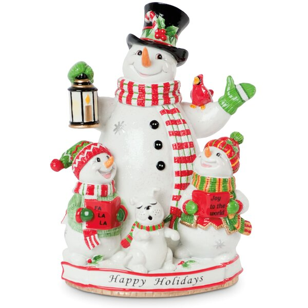 Caroling Snowmen Holiday Musical Figurine by Fitz and Floyd