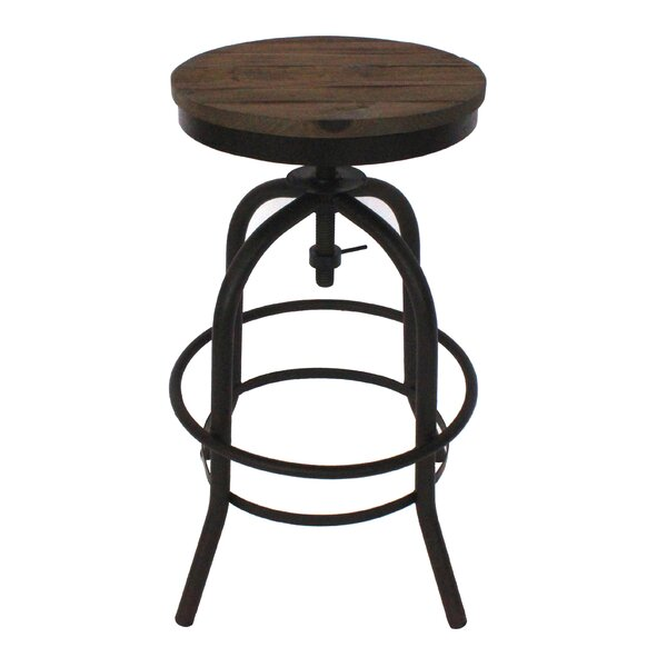 Dismuke Adjustable Height Bar Stool by Williston Forge