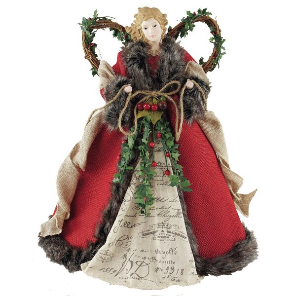 Homespun Angel Tree Topper by Santa's Workshop