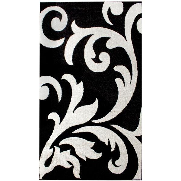 Melendez Black/White Area Rug by Astoria Grand