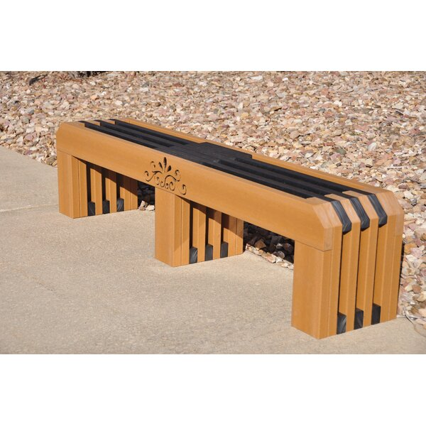 Gateway Recycled Plastic Park Bench by Frog Furnishings