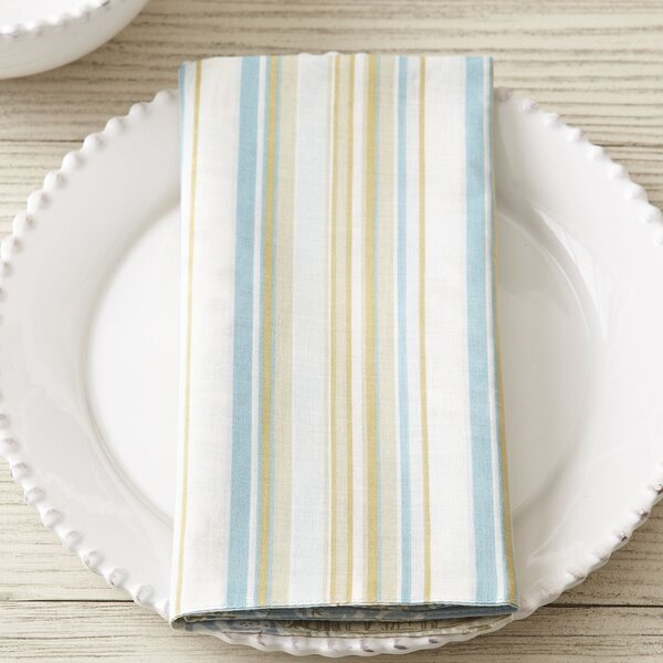 Amelia Natural Shell Napkin (Set of 6) by Beachcrest Home