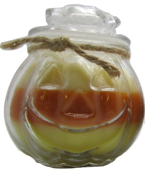 Jack O Lantern Candy Corn Candle by Star Hollow Candle Company
