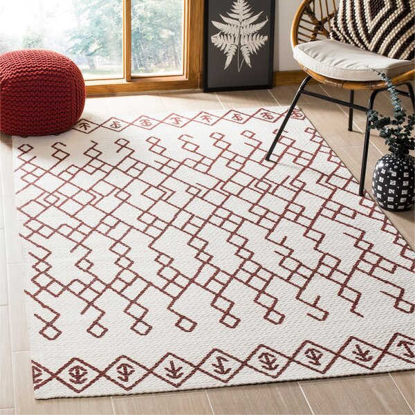 Owen Hand-Loomed Cotton Ivory Area Rug by Bungalow Rose