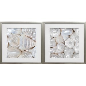 'Opalesque I and II' by Assaf Frank 2 Piece Framed Photographic Print Set by Star Creations