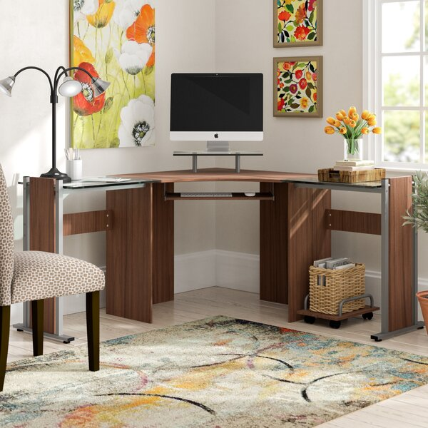 Cassiopeia Glass L-Shape Desk